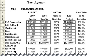 Agency Budgeter - Annual Budget and Forcast